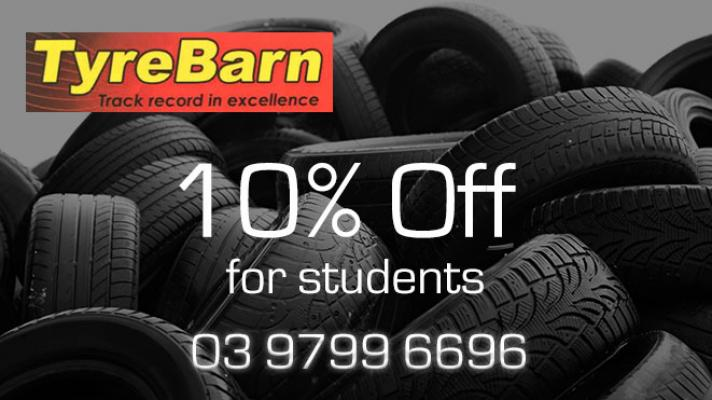Student Discount for New Tyres